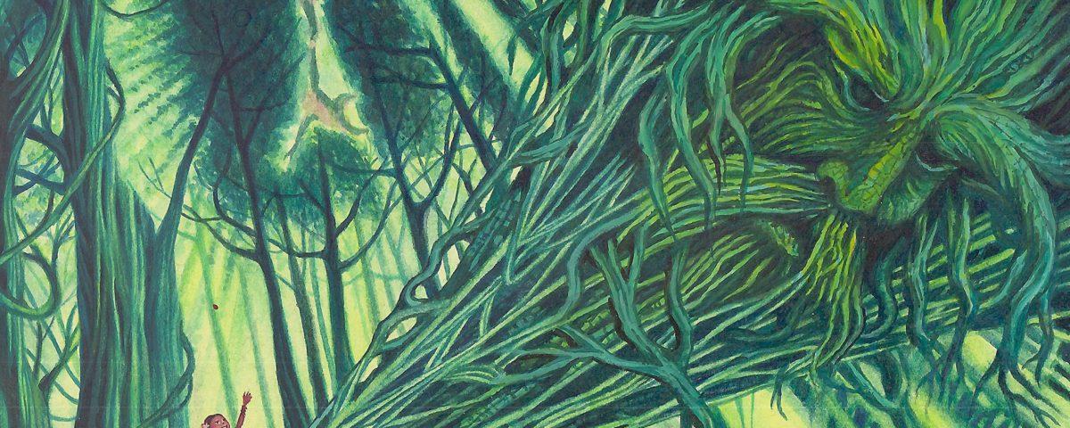 """Die Zeichnung für das Titelbild dieser Ausgabe stammt vom indonesischen Autor und Illustrator Alim Bakhtiar, dessen reich illustrierte Erzählung """"Kinder des Windes"""" wir bereits in der Ausgabe 3/2015 (Literatur aus Südostasien) vorgestellt haben © Alim Bakhtiar"""