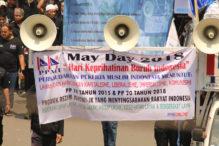 Beim Tag der Arbeit 2018 in Jakarta fördern die Gewerkschaften rassistische und xenophobische Ideologien © Dina Septi Utami