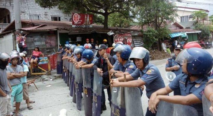 Die Antwort des Staates: erhöhte Polizeipräsenz © Deutsch-Philippinische Freunde