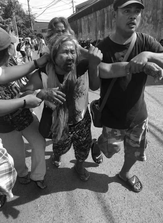 Mit massiver Gewalt wurde die Streikkette aufgebrochen © Deutsch-Philippinische Freunde