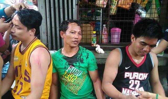 Nach dem Streik bei NutriAsia werden die Verletzten versorgt © Deutsch-Philippinische Freunde