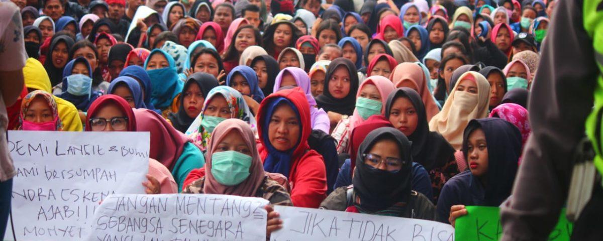 Nachdem PT Sentosa Utama Garmindo am 25. Januar 2019 besetzt wurde, gibt es Hinweise darauf, dass die Fabrik den Standort verlagern wird © GSBI