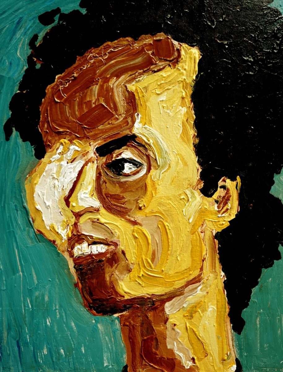 Wiji Thukul, Acryl on canvas - Portrait des 1998 verschwundenen Aktivisten von der indonesischen Malerin Dewi Candraningrum © Dewi Candraningrum