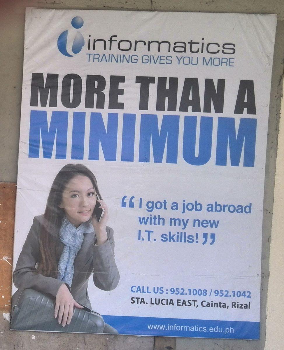 Die Call Center werben mit verlockenden Slogans für gut bezahlte Jobs im Ausland © Niklas Reese
