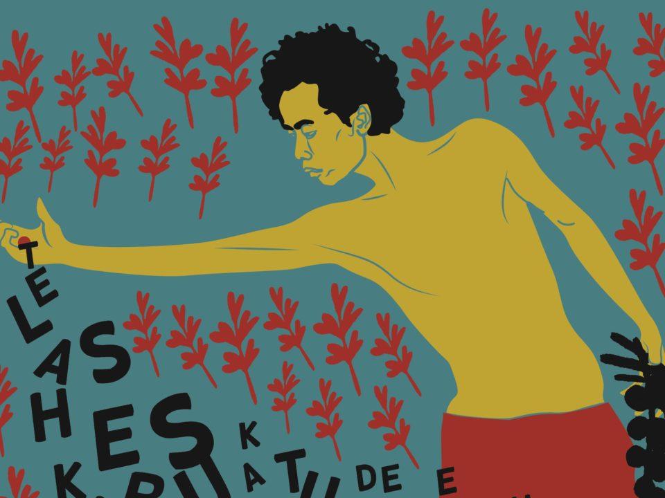 """Ausschnitt eines Posters des Künstlerkollektivs """"Nobodycorp International"""": Worte als Pflanzen auf dass sie viele werden © Nobodycorp"""