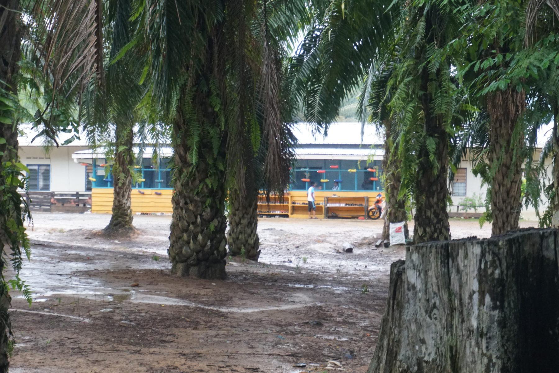Ein Gemeindelernzentrum auf einer Palmölplantage in Sabah © Rizal Assalam