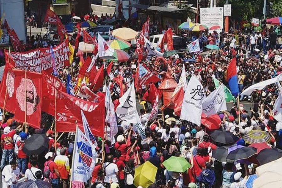 1. Mai in Manila: Kundgebung und Protestdemonstration © Levinia Francisco