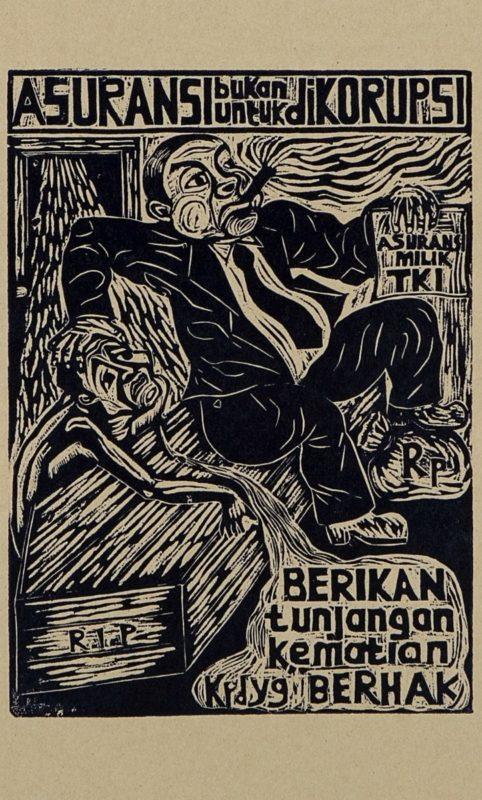 Sozialversicherung für die Arbeiter, nicht für die Korrupteure © Taring Padi