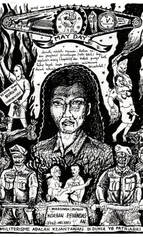 Titelbild Trompet Rakyat XVIII: Militarismus ist der Schwanz des Patriarchats © Taring Padi