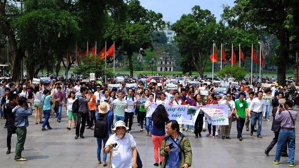 Baumkampagne in Hanoi © 6700 Menschen für Bäume