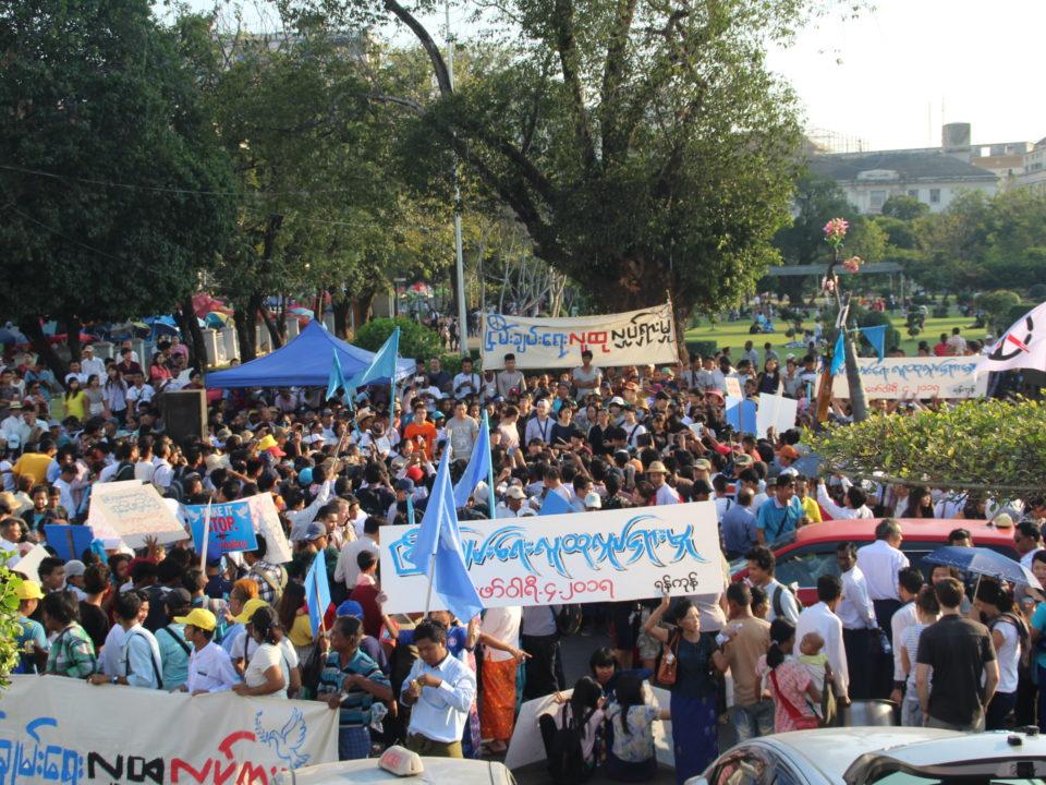 Friedensdemo in Yangon © Generation Wave