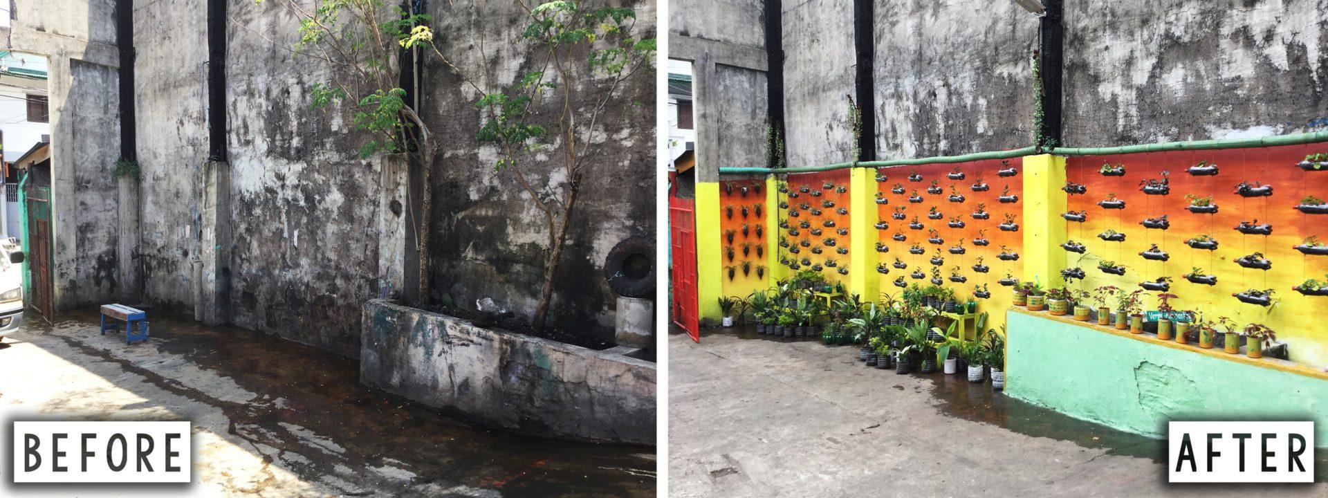 Barangay Potrero Malabon City vor und nach der Implementierung des Zero Wase Programms © Mother Earth Foundation