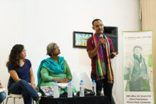 Srorn spricht bei einer Veranstaltung zu LGBTI bei HBS © Sam Jam