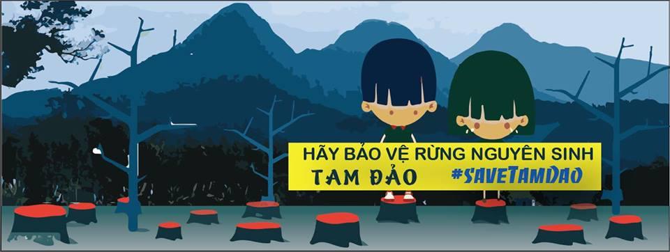 """Kampagne """"Save Tam Dao"""" © Save Tam Dao"""