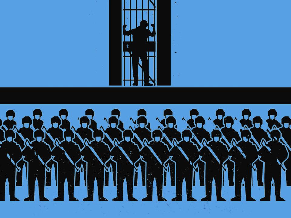 Ausschnitt des Posters 'War on Terror' vom indonesischen Künstler Alit Ambara © Nobodycorp