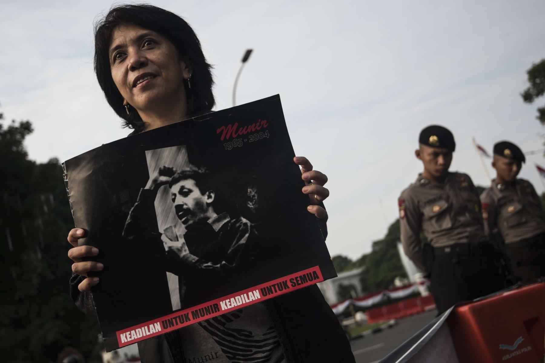 """""""Gerechtighkeit für Munir"""" - Wann werden die Verantwortlichen für den Mord an Indonesiens führenden Menschenrechtsanwalt zur Verantwortung gezogen? © Lexy Rambadeta"""