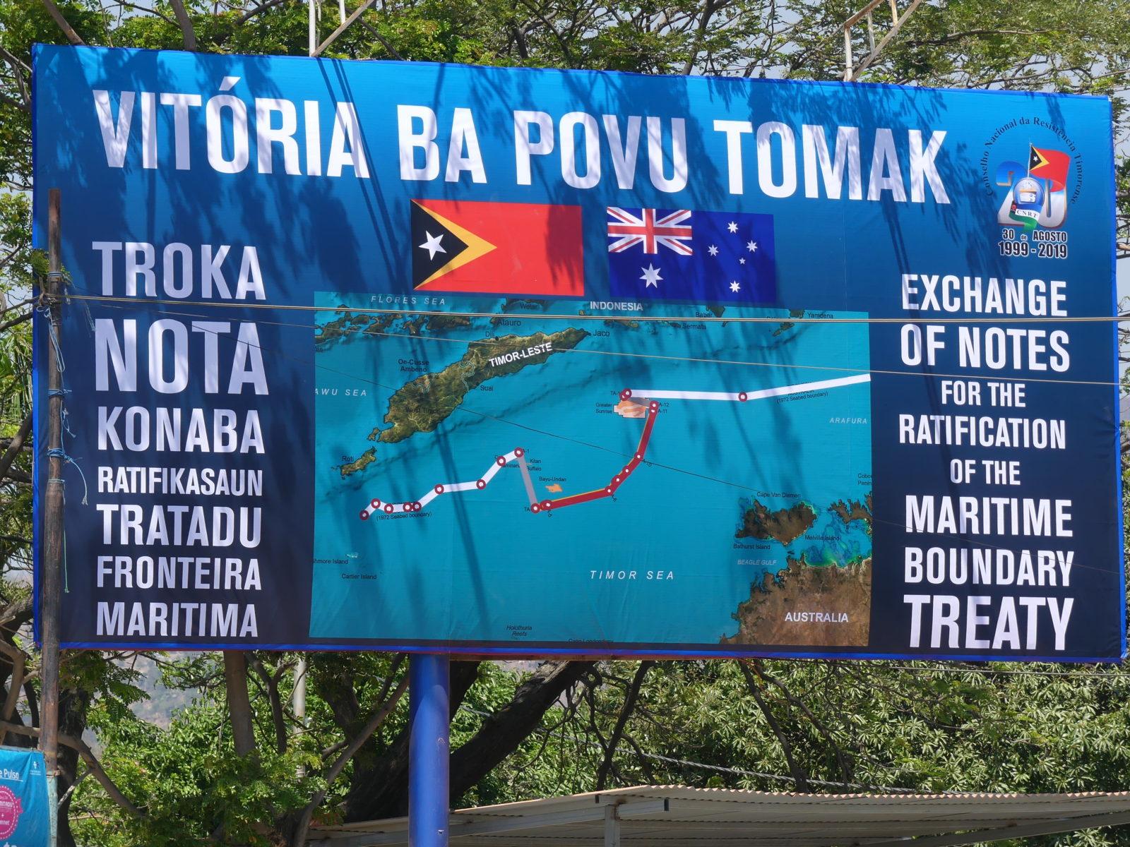 Timor-Leste hat die Auseinandersetzung mit Australien um die Seegrenze für sich entscheiden: Ein Sieg der ganzen Nation © Monika Schlicher