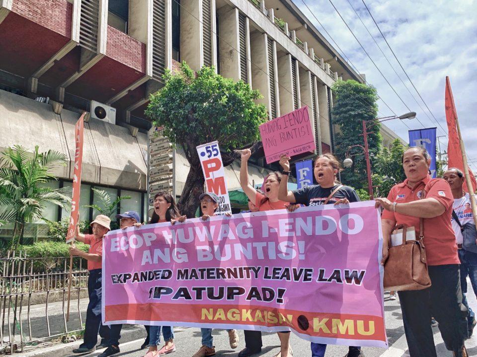 Filipinas protestieren zum Beispiel für längeren Mutterschutz © Del Banares