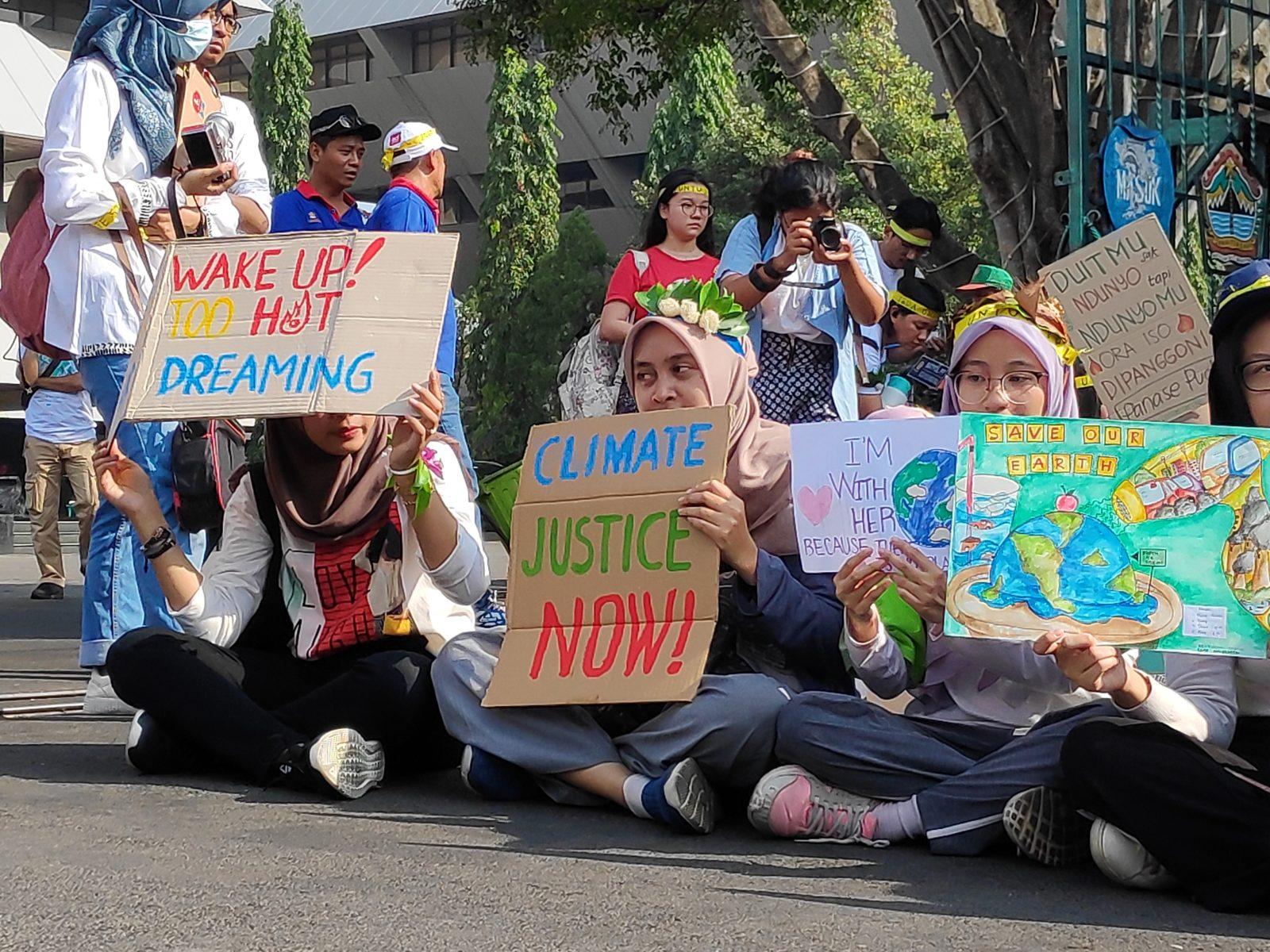 Klimastreik in Semarang, der Provinzhauptstadt von Zentraljava, Indonesien, im September 2019 © Suwito