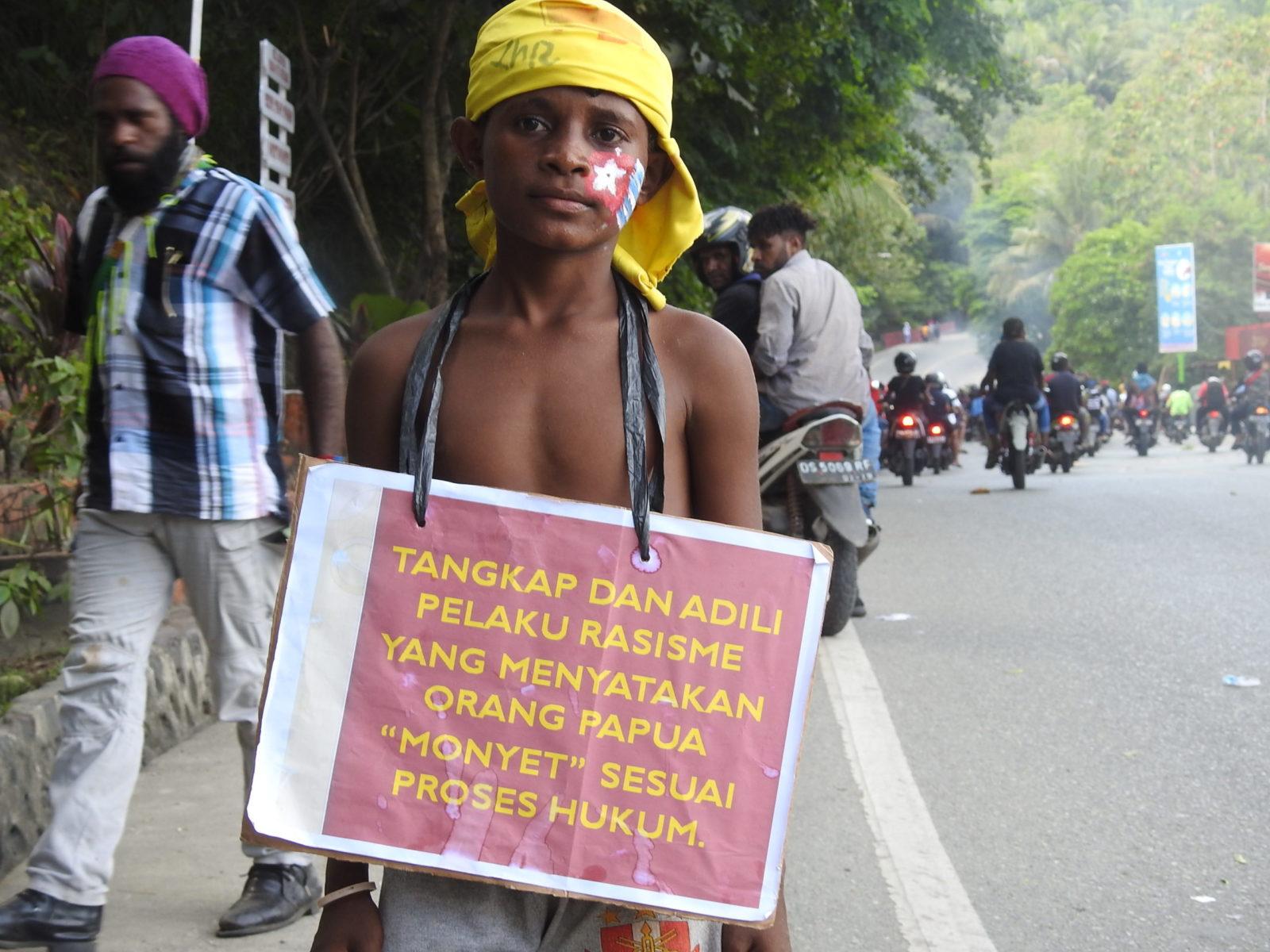 Indonesien, Proteste, Rassismus, Papua © Harun Rumbarar