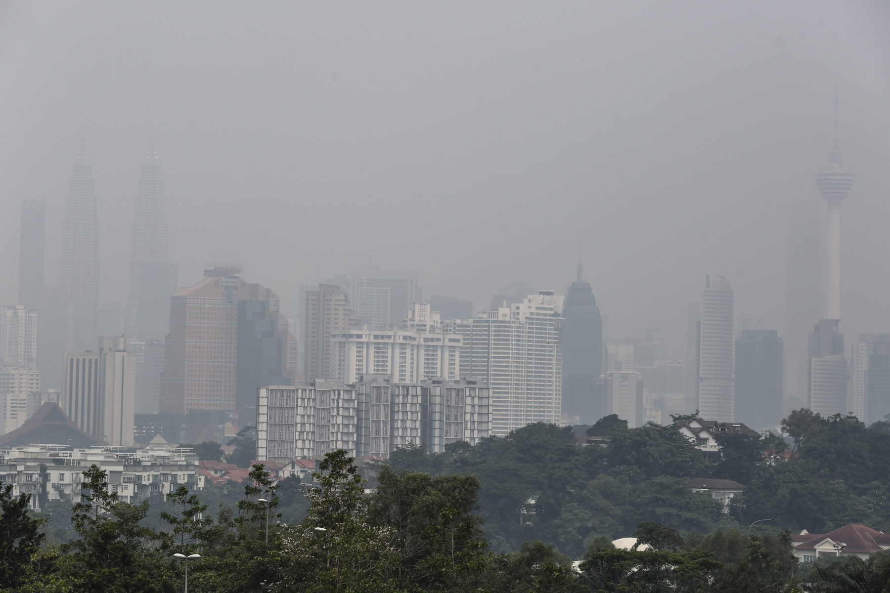 """Haze"" in Kuala Lumpur © Yusof Mat Isa"