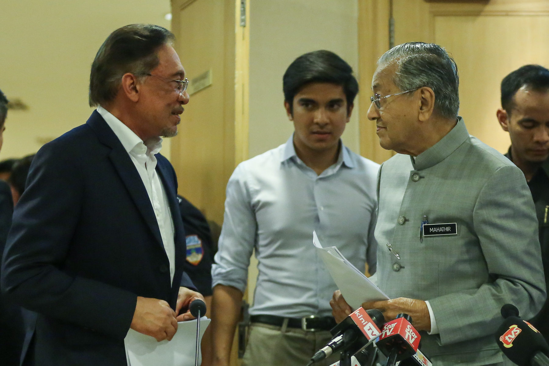 Vor Kurzem entstand dieses gemeinsame Foto von Mahathir und Anwar, November 2019 © Yusof Mat Isa