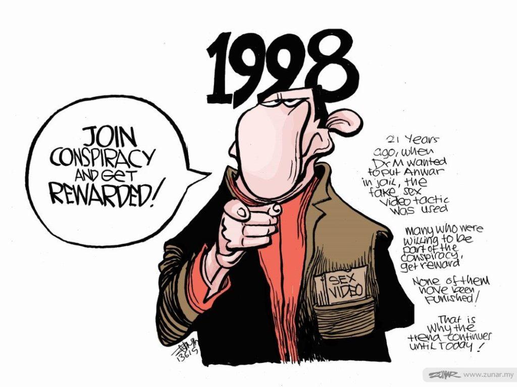 Neues Malaysia: Gefängnis wegen Korruption © Zunar