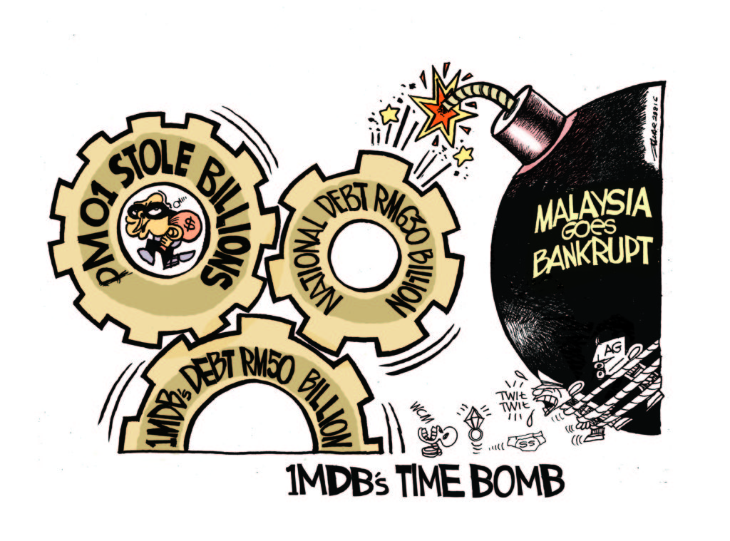 Neues Malaysia, 1MDB © Zunar