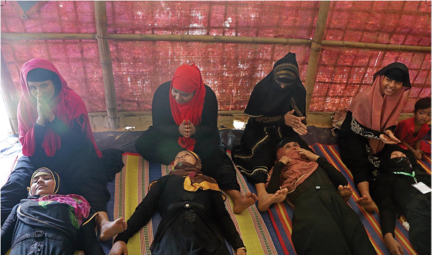 Fabeha.Monir&.Allison.Joyce.Myanmar.Psychosoziales Unterstützungsprogramm mit Rohingya Frauen. Hakim Para Camp.008