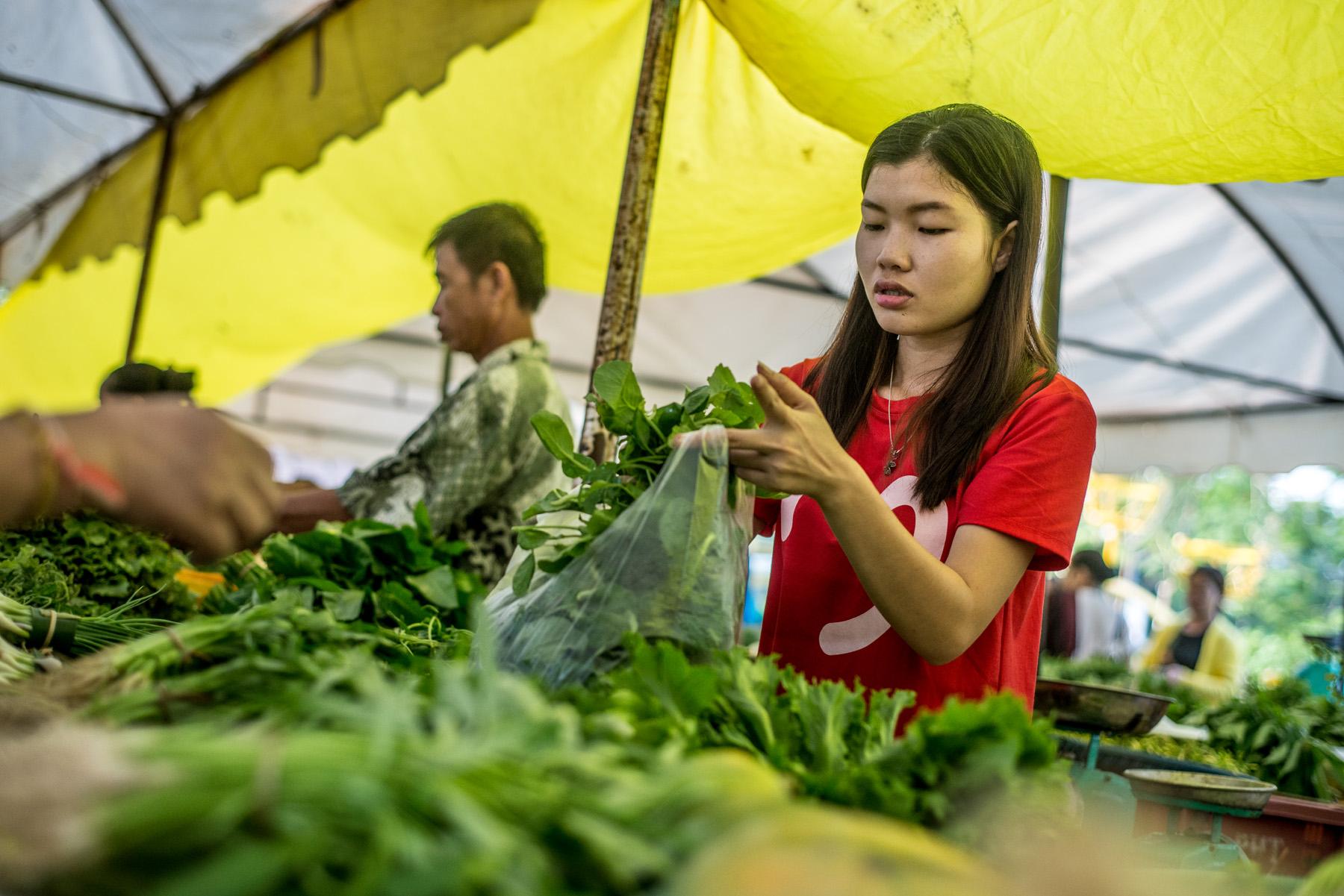 Laos Marktverkäuferin