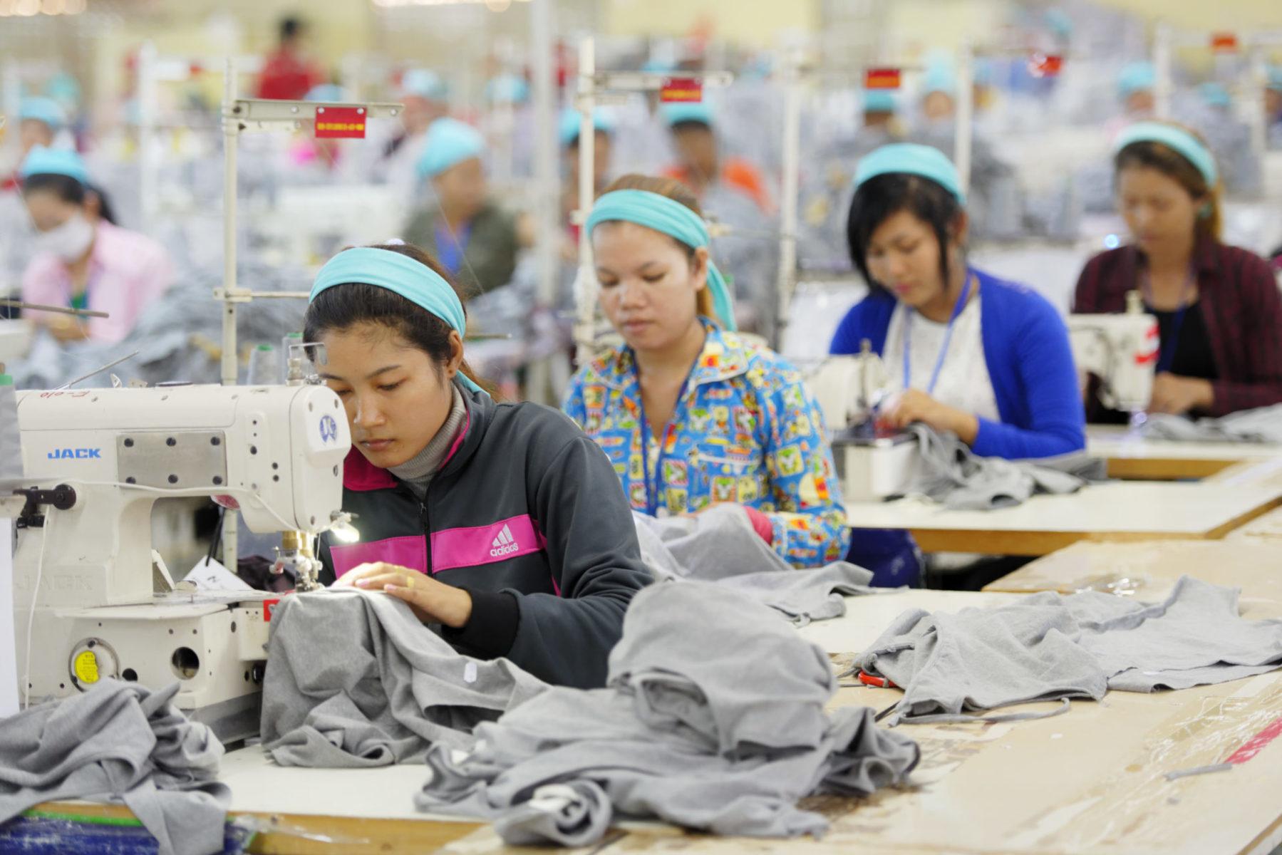 Kambodscha Textilarbeiter*innen